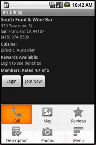 RN Dining - screenshot