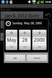 DeltaT Date Calculator- screenshot thumbnail