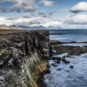 End by Kaspars Dzenis - Landscapes Beaches ( iceland, nature, snæfellsnes, travel, beach, landscape, basalt, rocks )