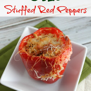 Orzo Stuffed Red Peppers