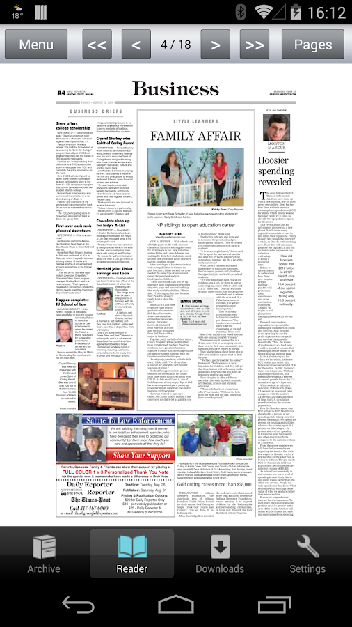 Daily Reporter E-Edition- screenshot