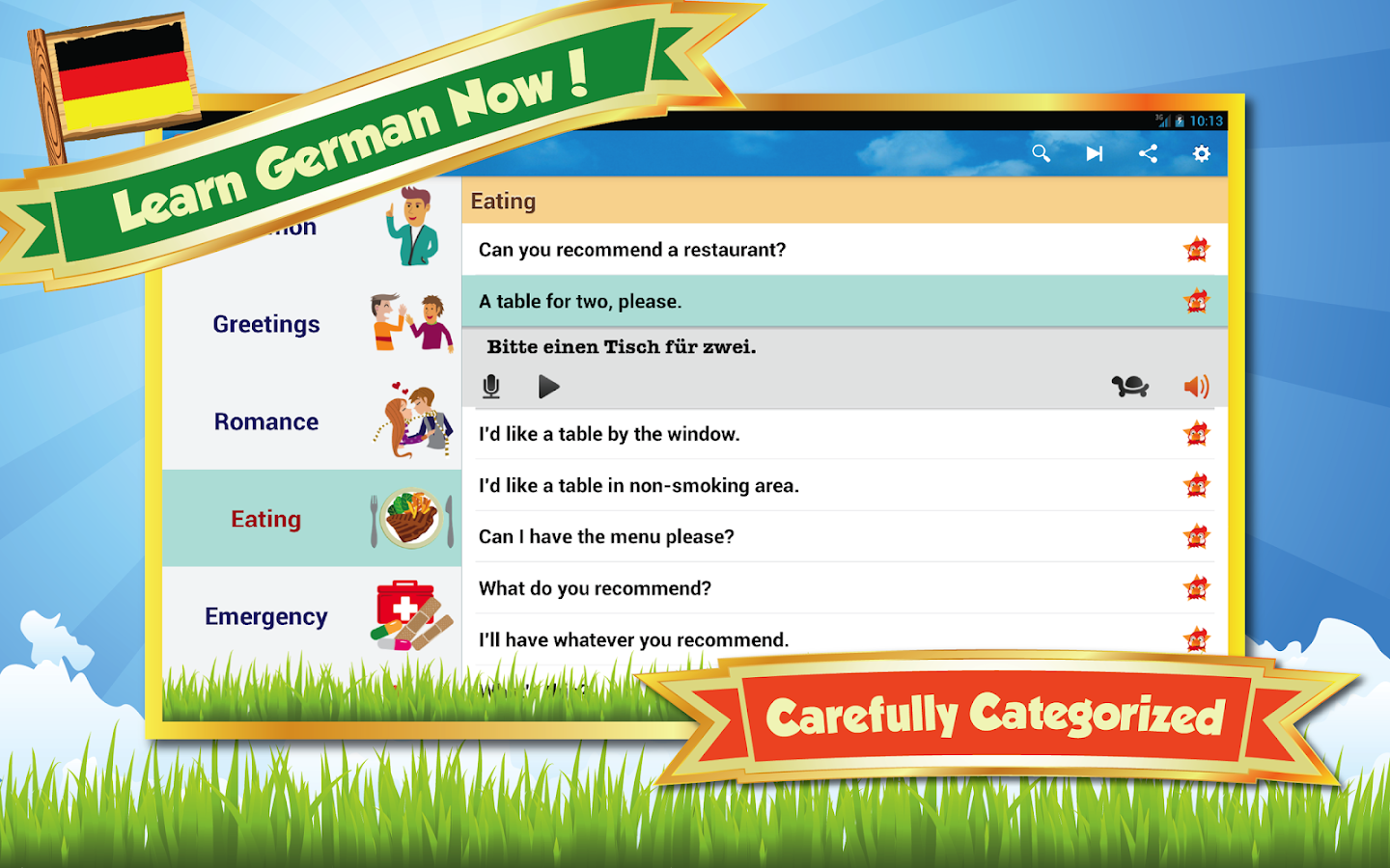 Learn German - screenshot