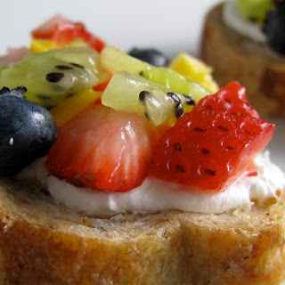 Fresh Fruit Bruschetta.