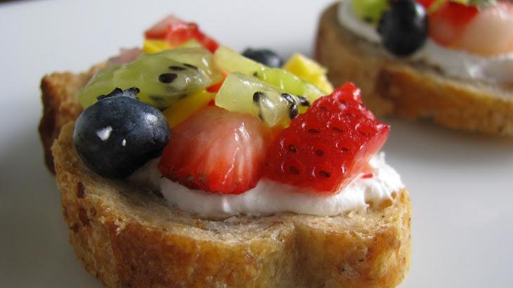 Fresh Fruit Bruschetta Recipe