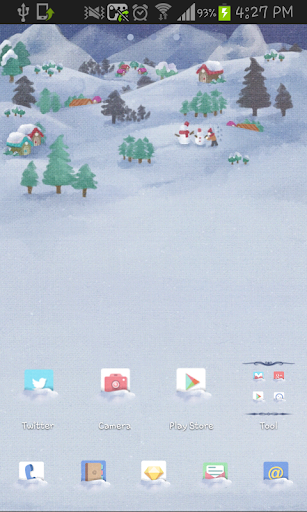 THE WINTER NIGHT go launcher