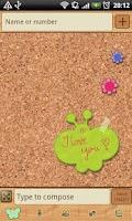 Screenshot of GO SMS Sweet Pinboard Theme
