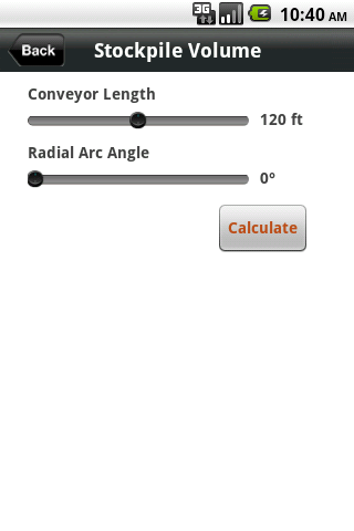 ConveyCalc- screenshot