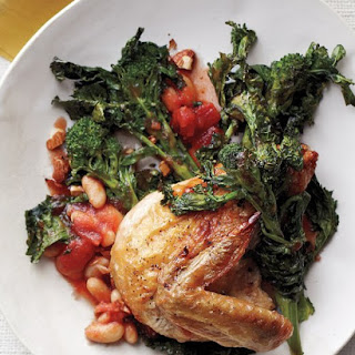 Chicken with Broccoli Rabe, Tomatoes, and Beans