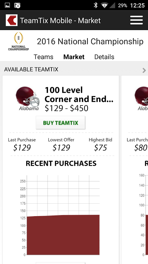 TeamTix Mobile- screenshot