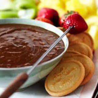 Toblerone Dark Chocolate Honey-Almond Fondue.