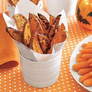 Garlicky Sweet Potatoes.