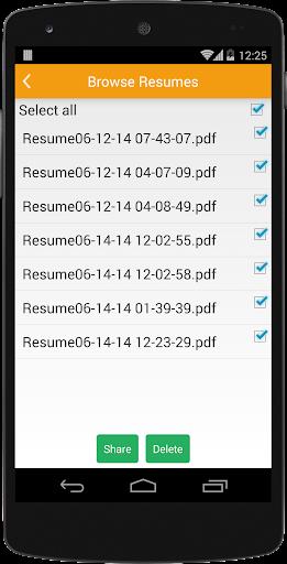 لالروبوت Super Resume Builder Pro, CV تطبيقات screenshot