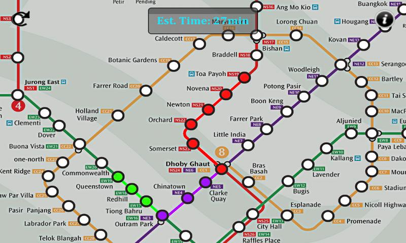 Singapore MRT Route - screenshot