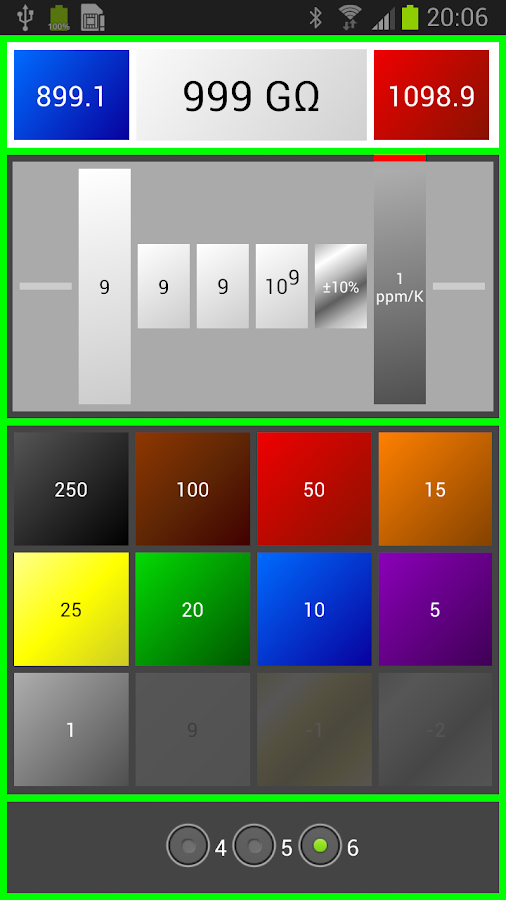 Resistor Color Code Ohm Calcul - screenshot