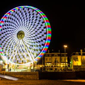 Big Wheel by Eugénio Buchinho - City,  Street & Park  Amusement Parks ( cascais, roda gigante, noite )