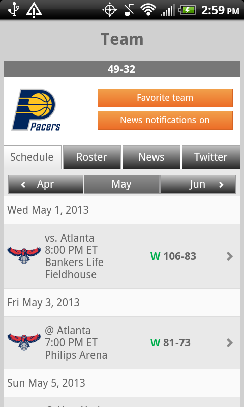 Sporting News Pro Hoops - screenshot