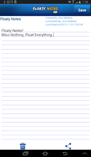 Floaty Notes Free: Share Notes - screenshot thumbnail