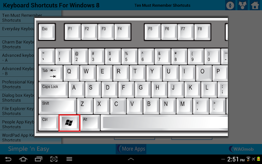 【免費書籍App】Windows 8 Keyboard Shortcuts-APP點子