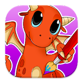 Coloring: Dragons for Kids