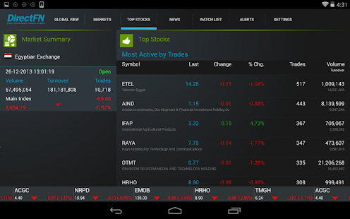 DFN (Egypt) for Android Tab - screenshot thumbnail