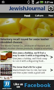 JewishJournal app for Android- screenshot thumbnail