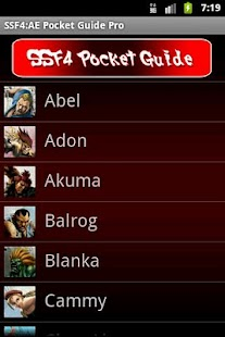SSF4 AE Pocket Guide Pro - screenshot thumbnail