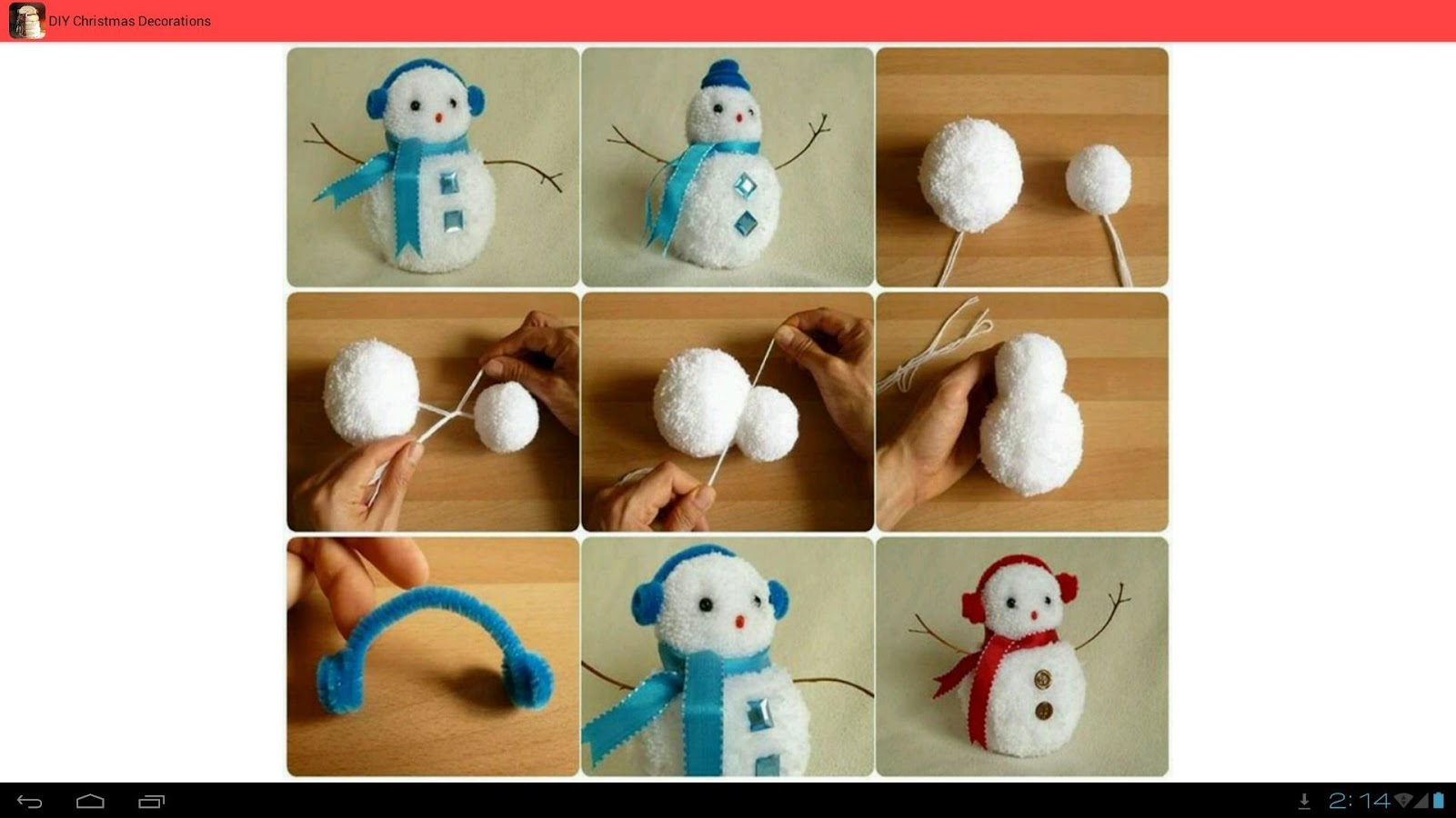 Diy christmas decorations android apps on google play for Homemade xmas decorations