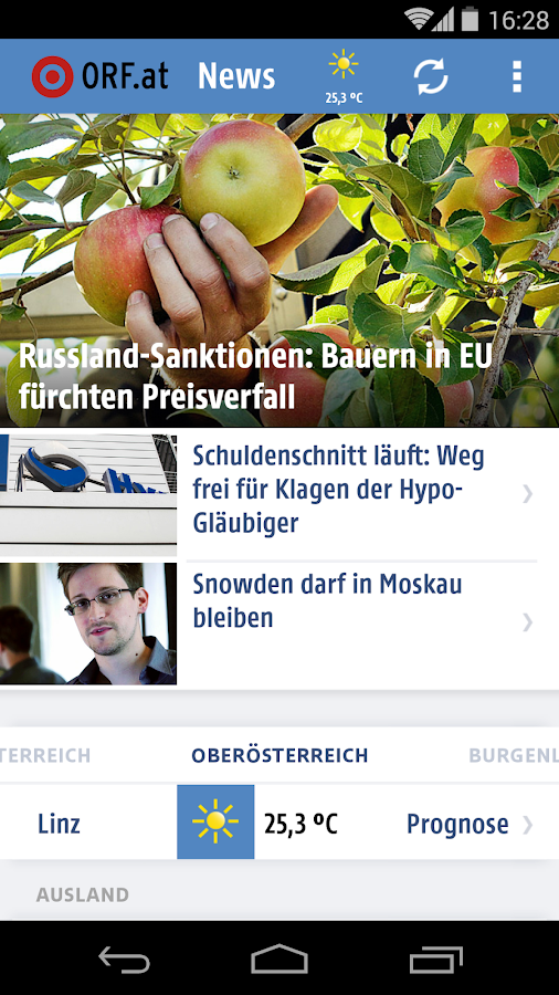 ORF.at News- screenshot