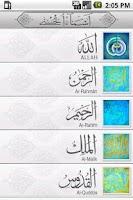 Screenshot of Holy Names Of Allah
