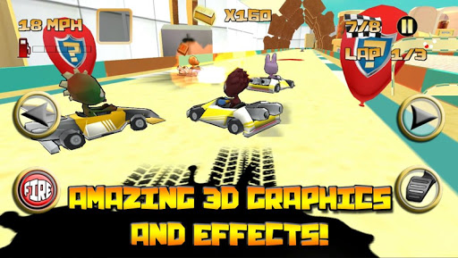 Kartoon Crazy Racing