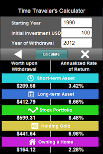 Historic Investment Results - screenshot thumbnail
