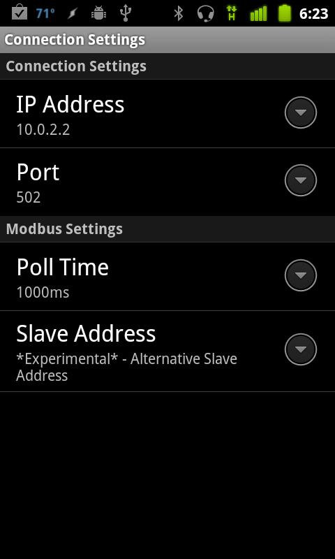 Modbus-Droid- screenshot