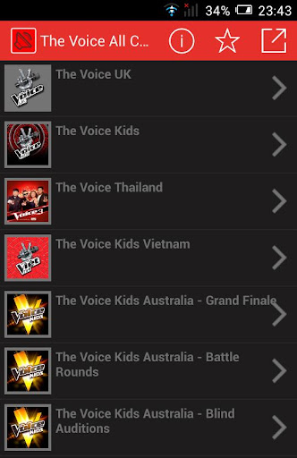 The Voice all Countries