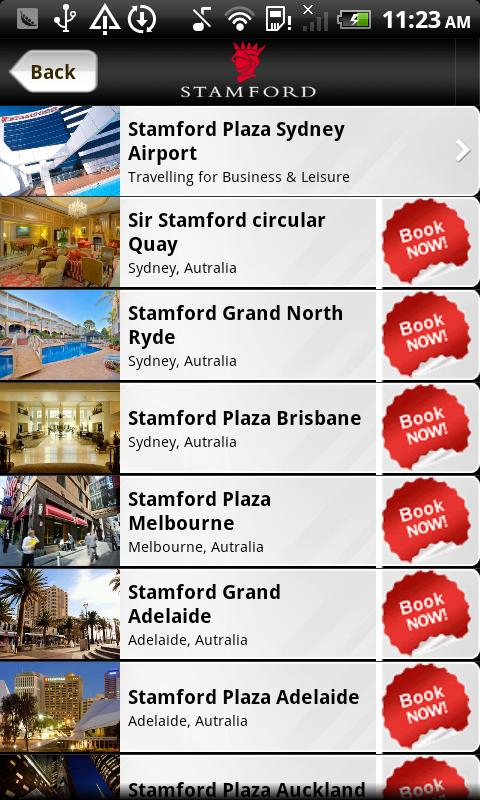 Stamford Hotels & Resorts - screenshot