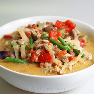 Pork and Eggplant Green Curry.