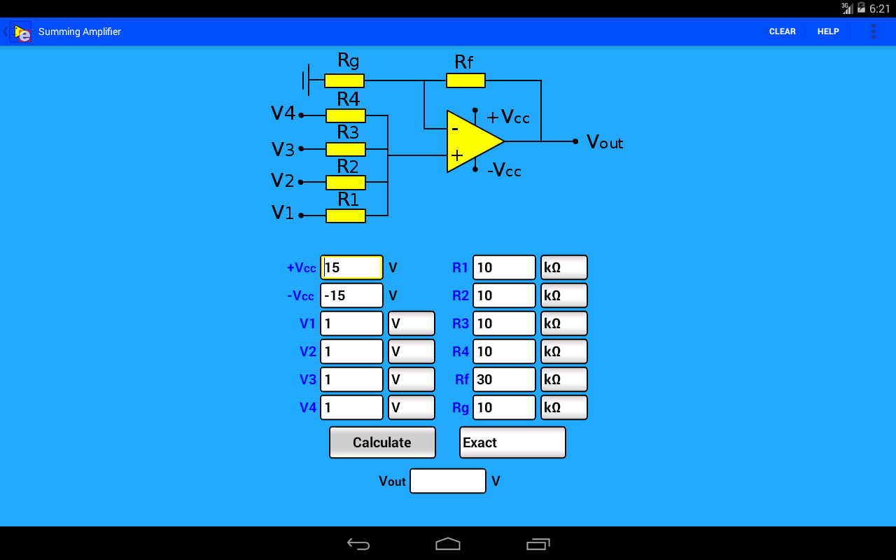 Non Inverting Summing Amplifier Microlab Power Opamp Follower Inverter Circuit Diagram Tradeoficcom Calculator Android Apps On Google Play