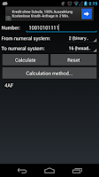 Screenshot of Numeral System Converter Free