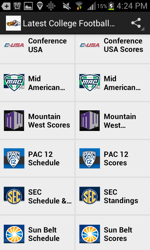 Latest College Football News- screenshot