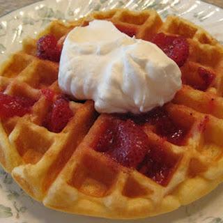 Tender Sour Cream Waffles