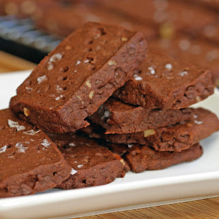 Malted Chocolate Pecan Shortbread Cookies