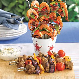 Soy-Glazed Shrimp Kebabs