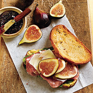 Prosciutto, Fresh Fig, and Manchego Sandwiches.