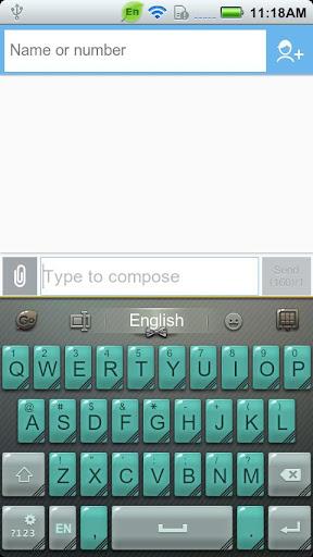 GO Keyboard Gentleman theme
