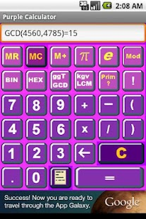 Purple Calculator - screenshot thumbnail