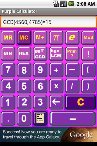 Purple Calculator - screenshot