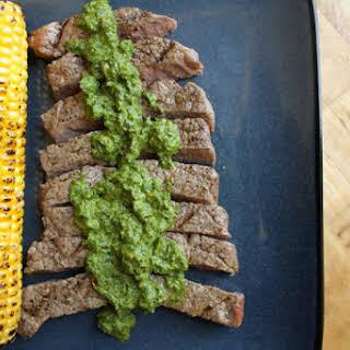 Grilled Steak with Lemon Chimichurri.