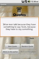 Screenshot of Quotes
