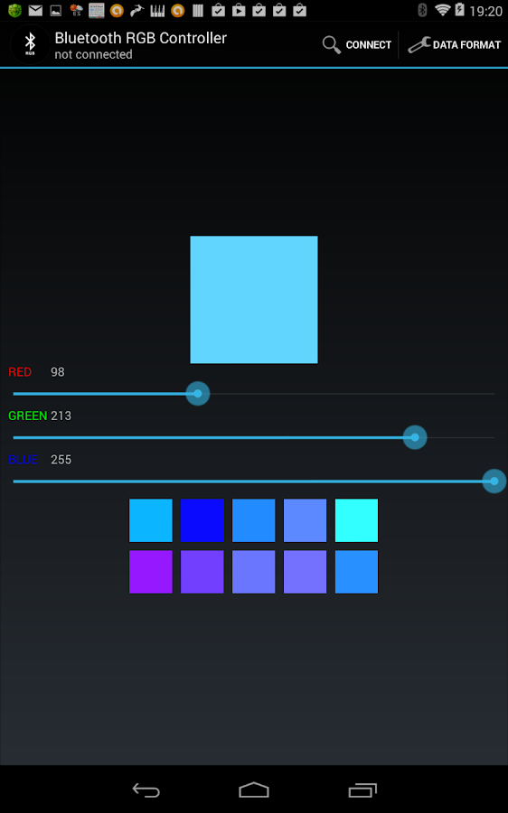 Bluetooth RGB- screenshot