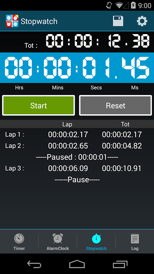 Timers4Me Timer&Stopwatch Pro- screenshot