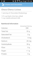 Screenshot of Shakes and Smoothies